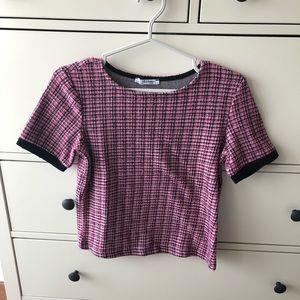 Zara tweed inspired top